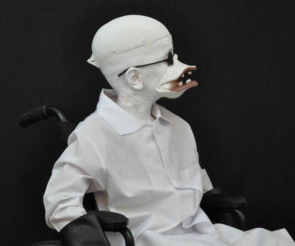 3D Printed Nightmare Before Christmas Costume - Dr. Finkelstein