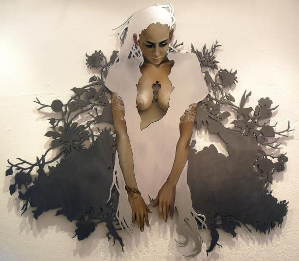 Perunica's Reign (2009)  Catherine Brooks  Oil paint on MDF  8'x6.5'  Sold
