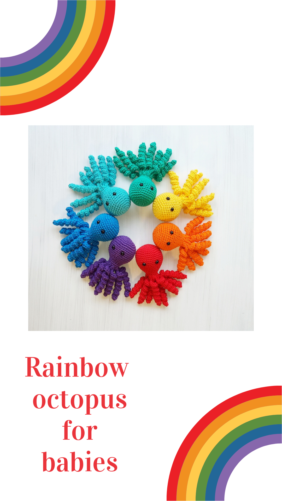small rainbow octopus for premature babies