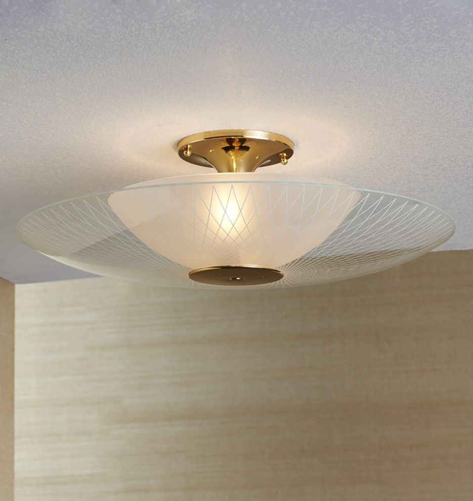 Luna Semi-Flush Mount | Pinterest