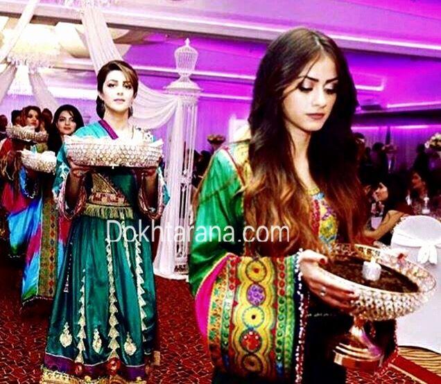 Afghan National Dress Style Girls Wedding Henna Night