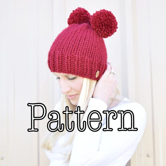 Knitting PATTERN Basic Knitted Hat All Sizes Knitting | crochet ...