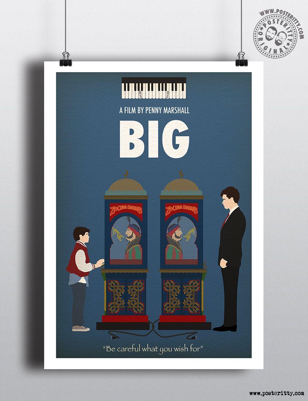 Big Tom Hanks Minimalist Movie Poster Minimalist Movie