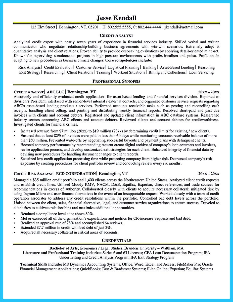 Nice Cool Credit Analyst Resume Example From Professional Check More At Http Snefci Org Cool Cred Job Resume Samples Business Analyst Resume Resume Examples
