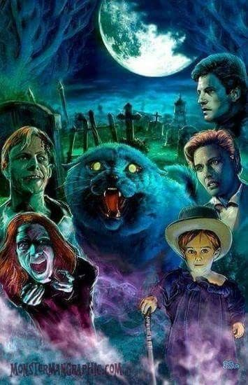 Horror Movie Poster Art Pet Sematary 1989 By Scott Jackson Horror Movie Art Movie Artwork Pet Sematary