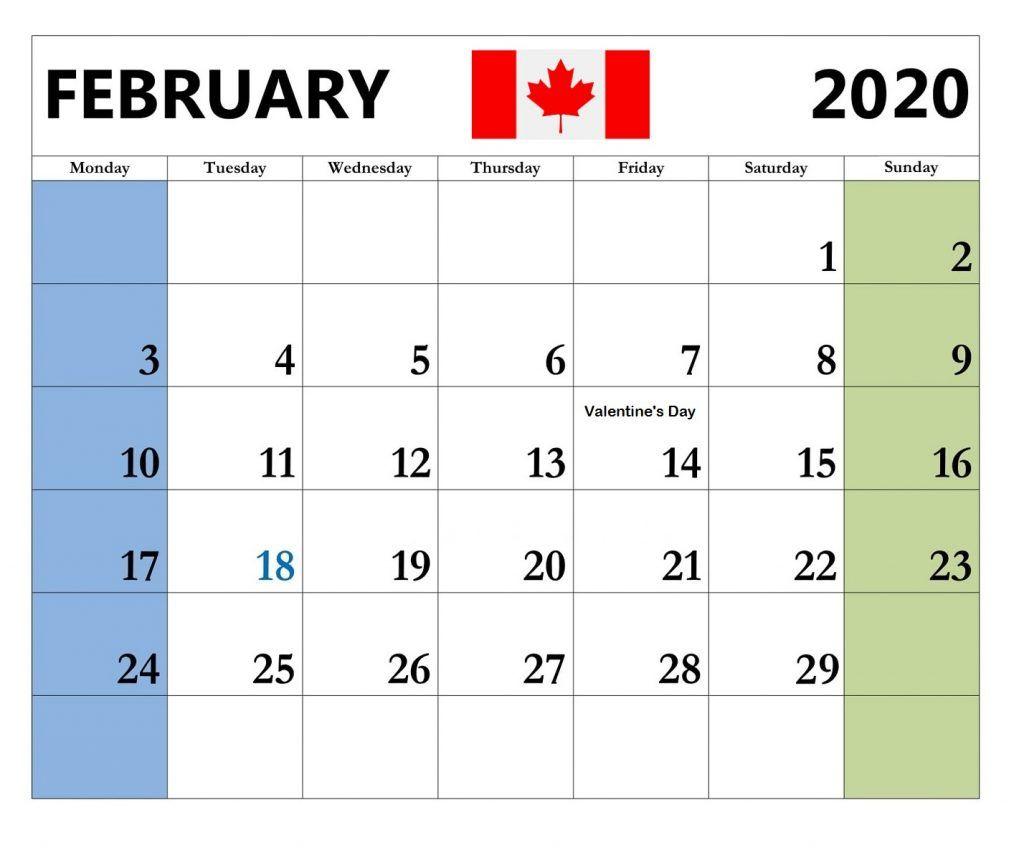 Canada February 2020 Federal Holidays Calendar Holiday Calendar Federal Holiday Calendar Canadian Holidays