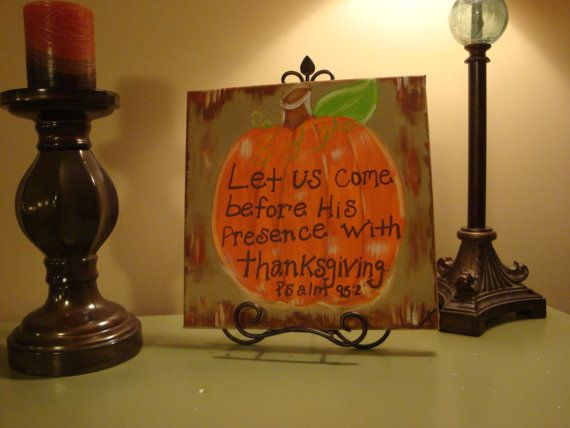 Handpainted Pumpkin Canvas Painting by PaintingsbyChristyM on Etsy, $30.00