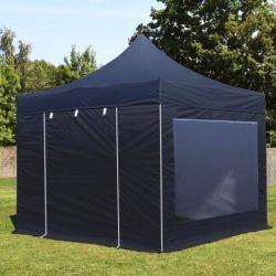 Photo of Folding pavilion 3x3m Pes 400 g / m² black waterproof folding tent, folding tent ToolportToolport
