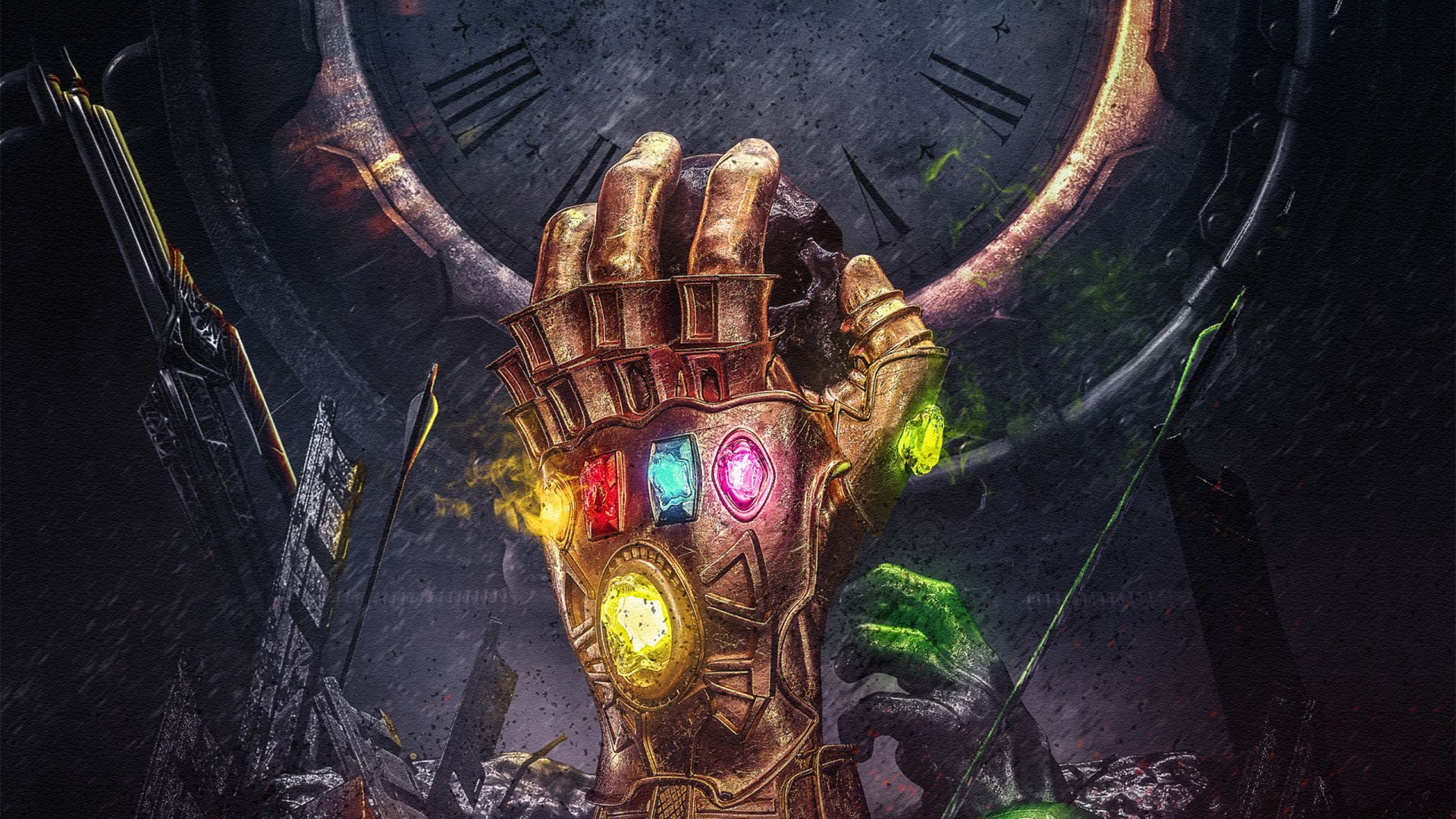 Download Wallpapers Of Infinity Gauntlet Thanos Infinity Stones Avengers Infinity War Marvel Comics Hd Cr Art Wallpaper Creative Graphics Hero Wallpaper