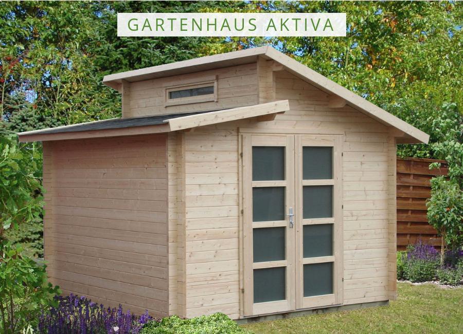 Carlsson Gartenhaus Aktiva Gartenhaus mit Pultdach in