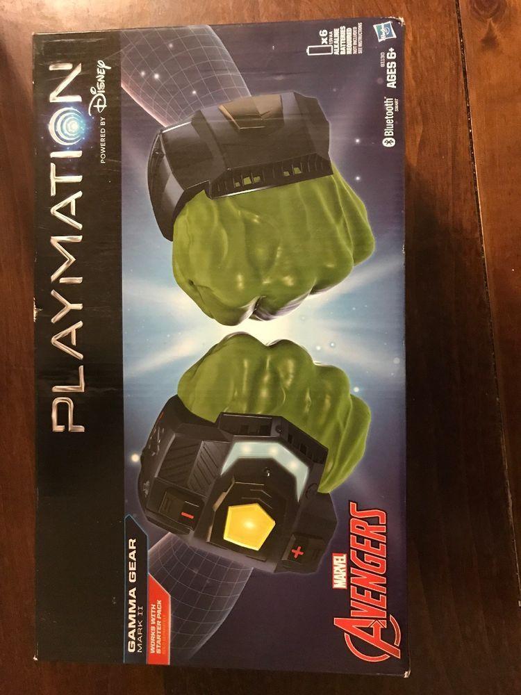 Playmation Marvel Avengers Gamma Gear Mark II  Hulk Hands Works w// Starter Pack