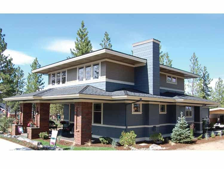 Eplans bungalow house plan two story prairie home 1990 for Maison eplans
