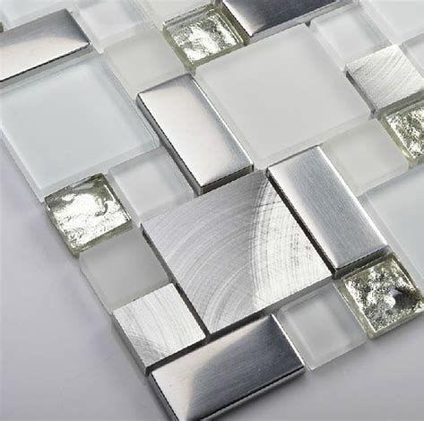 Image result for Silver Glass Tile Backsplash Ideas