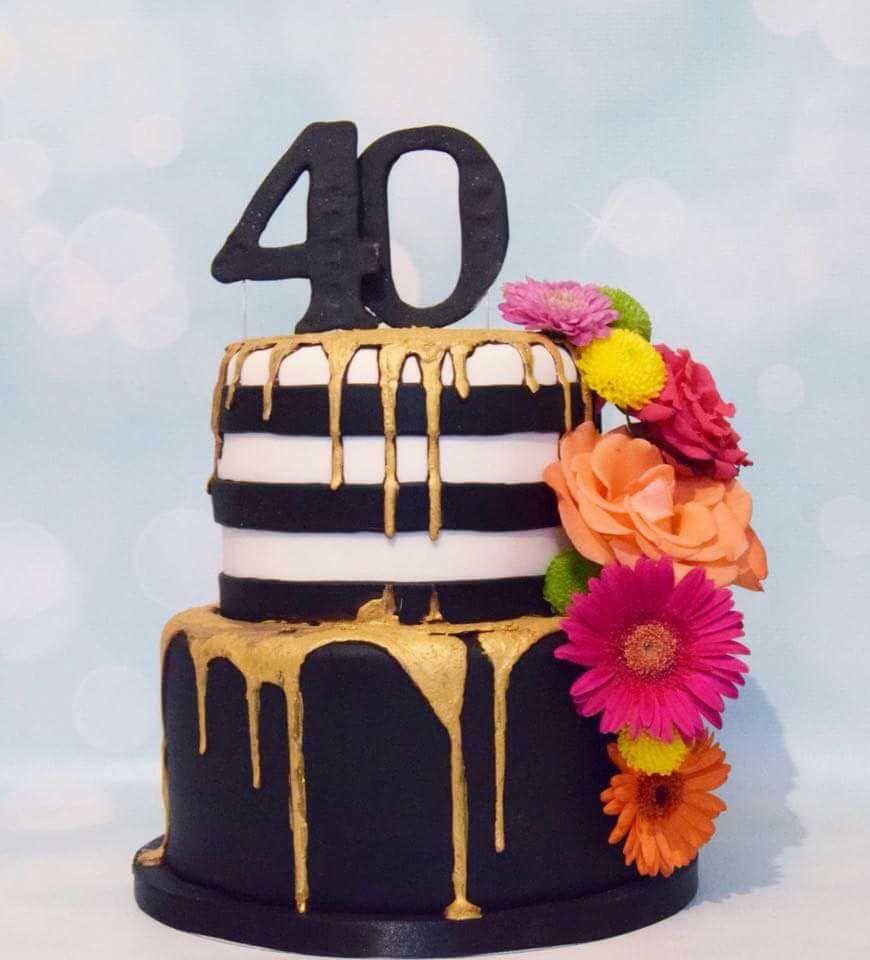 Decorate Shop Tigard 2 Tiered Drip Cake Dark Chocolate Ganache Painted Gold Visit My