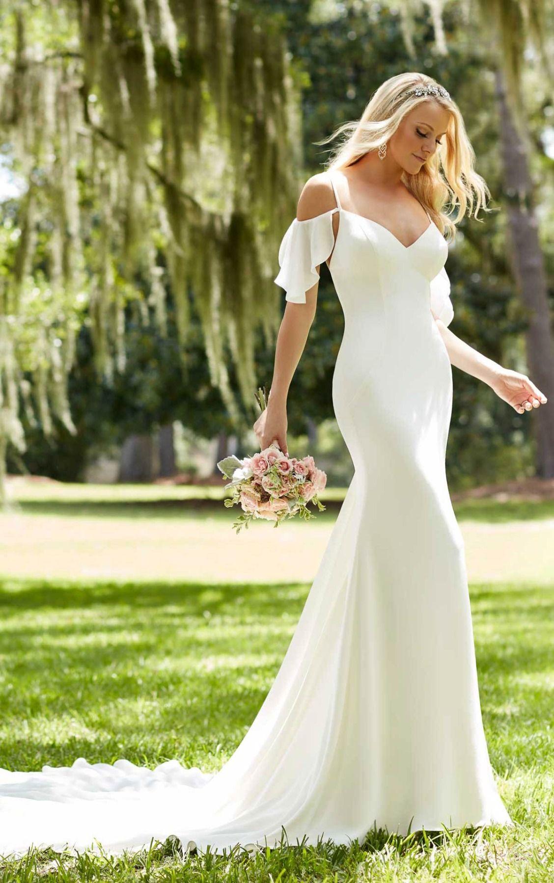Off the shoulder sheath wedding dress wedding dress weddings and