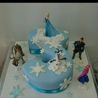 Frozen Number 3 Cake With Images 3rd Birthday Cakes Frozen