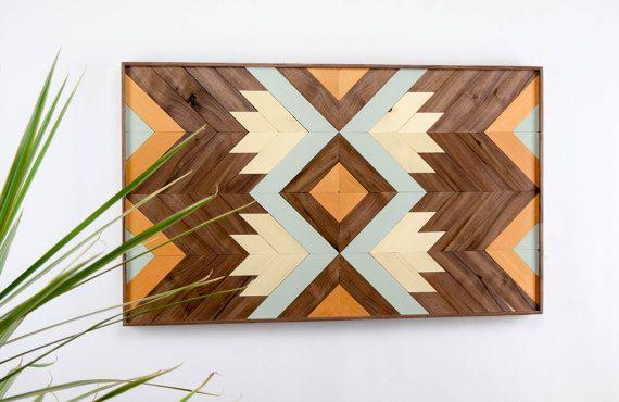 Wood Wall Art Abstract Wood Wall Hanging Midcentury Modern | Hanging ...