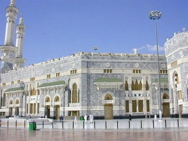 External View Of Al Haram Shareef Ancient Greek Architecture Grand Mosque Mecca