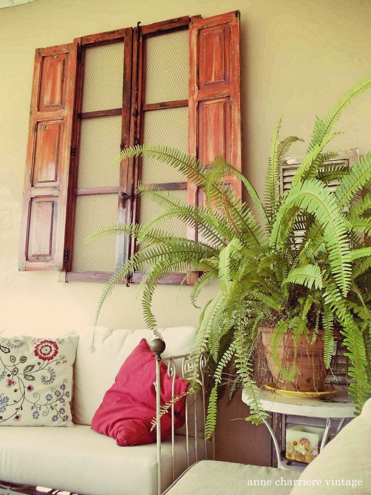 Repurpose-a-Spanish-Window to Outdoor Wall Decor | Outdoor walls ...