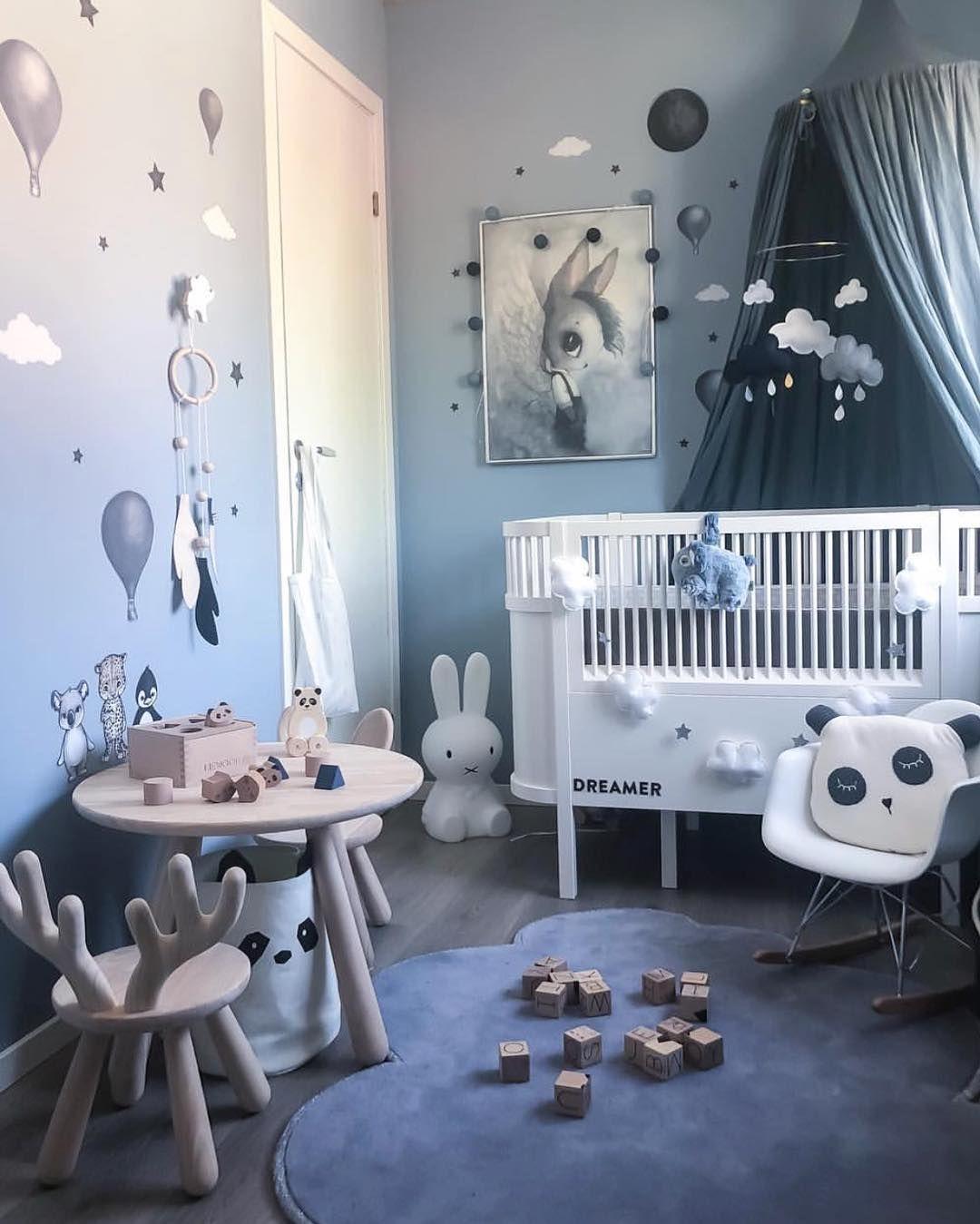blauwe kinderslaapkamer | slaapkamer inspiratie | bedroom ideas ...