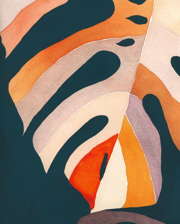 Rainbow Monstera by Emily Grady Dodge on Artfully Walls #landscapeplans