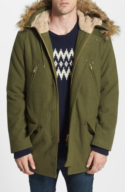 Gant Rugger Men's R Winter Wool Blend Parka | Jacket, Coat and ...