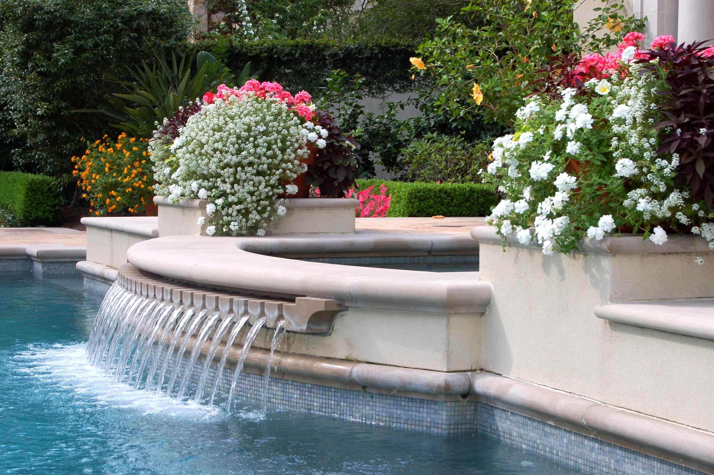 Spa Overflow Feature Mcdugald Steele Landscape Architects