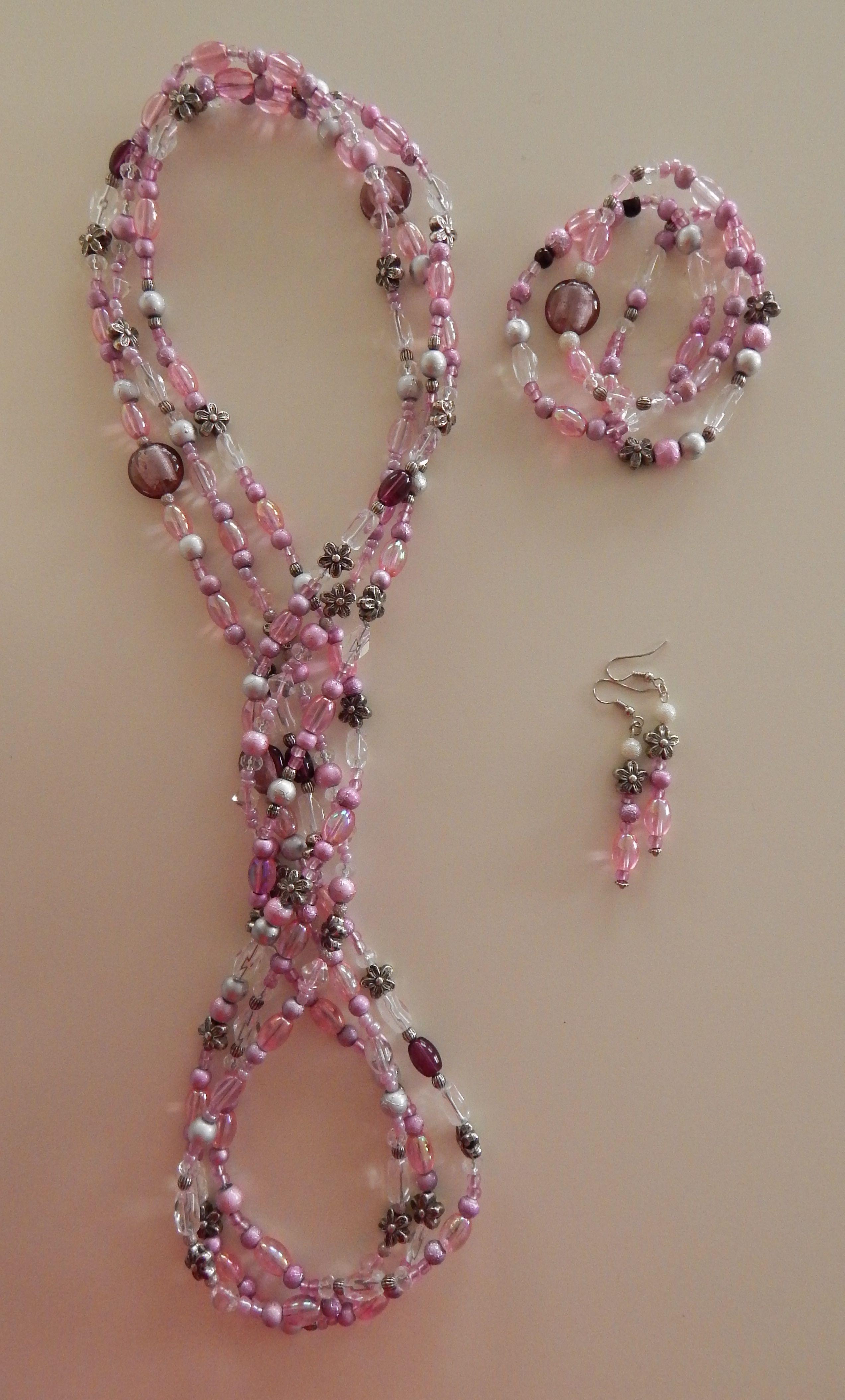 Pink Lariat Set