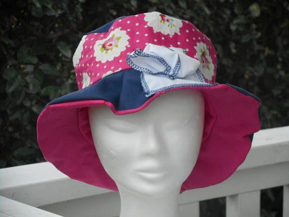 29ee065c28bf Chapeau de soleil d été enfant fillette coton lin eva   Pinterest