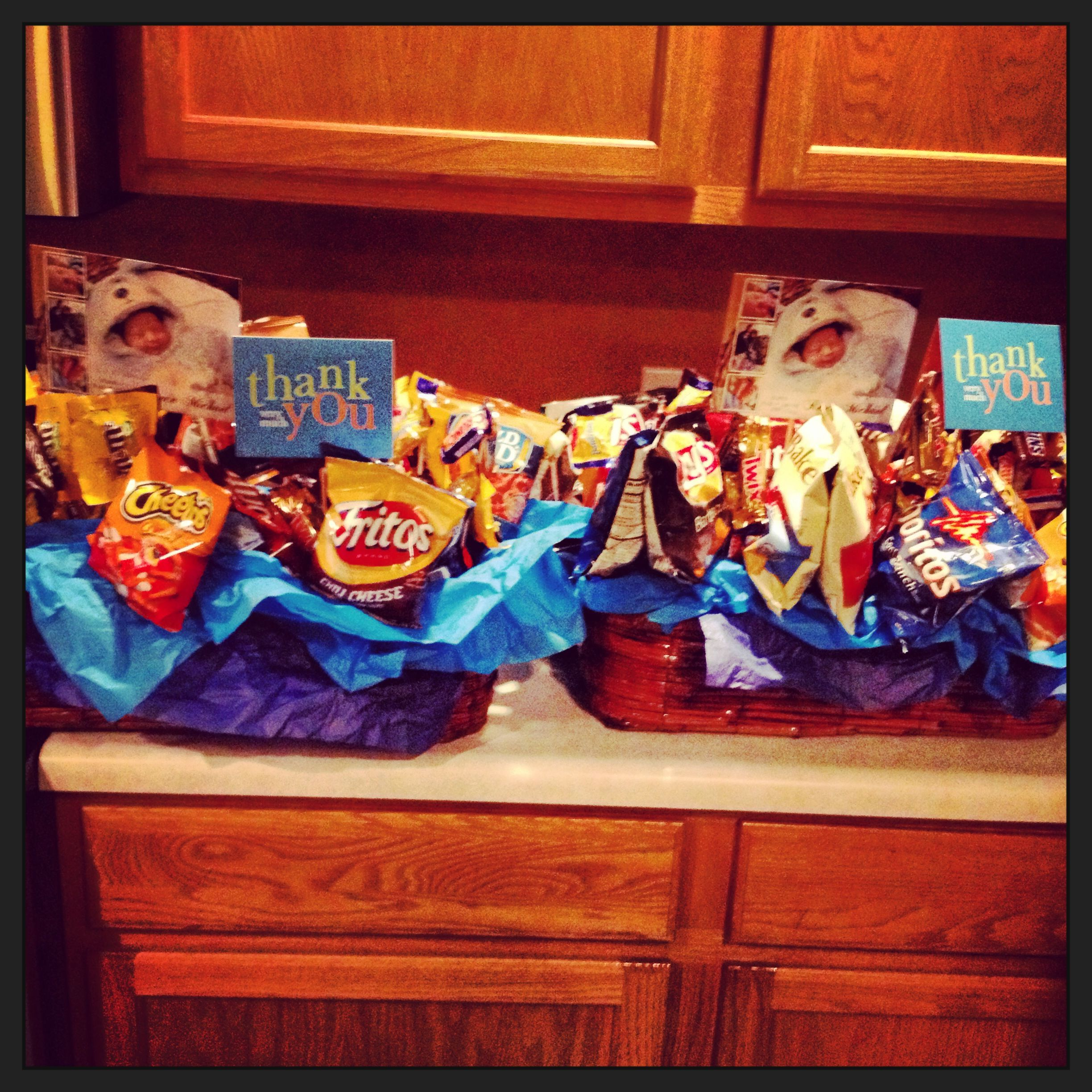 Thank you gift baskets for labor and delivery nurses and the Obgyn ...