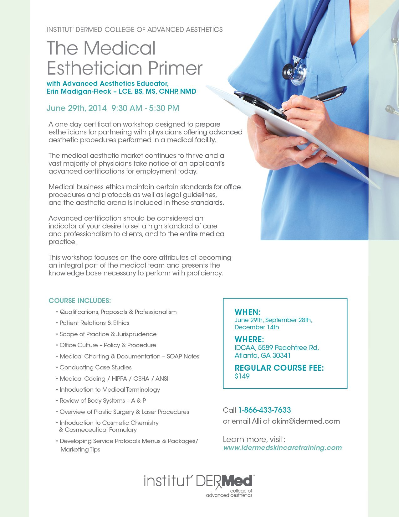 Medical Esthetician Primer A One Day Certification Workshop Designed To Prepare Estheticians For Medical Esthetician Medical Aesthetician Advanced Aesthetics