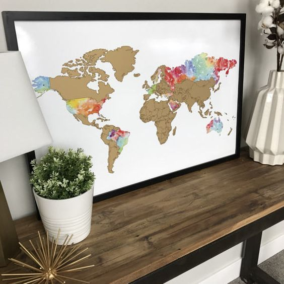 Watercolor world scratch off map country codes watercolor print scratch off the places youve travelled using this unique scratch map reveal the watercolor print country codesmodern gumiabroncs Images