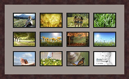 Art To Frames Doublemultimat4668889frbw26061 Collage Frame Photo Mat Double Mat With 12 4x6 Openings And Espresso Frame Check Out The Image By Visiting Frame