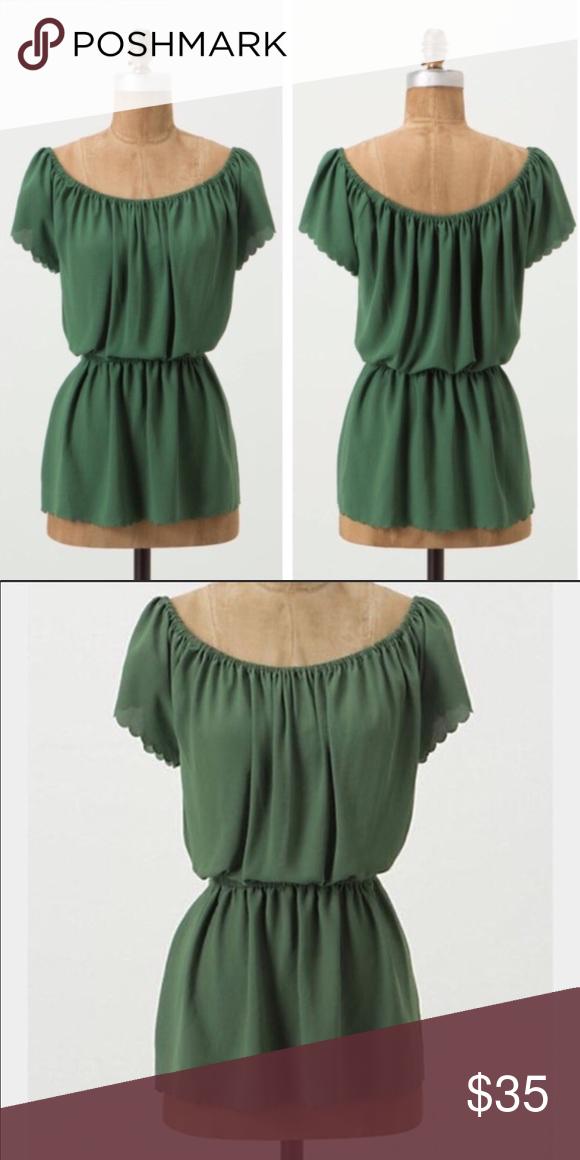 ae3d579398e Anthro Postmark Metamorphism Top Brand  Anthropologie Postmark Size  Womens  M Color  green