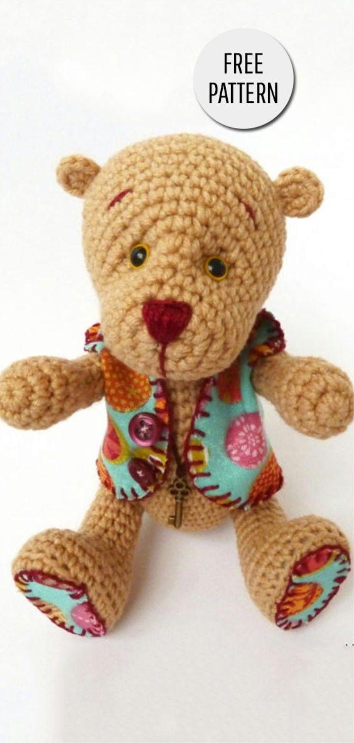 Bear Crochet Toy Free Pattern | Amigurumi | Pinterest | Patrones ...