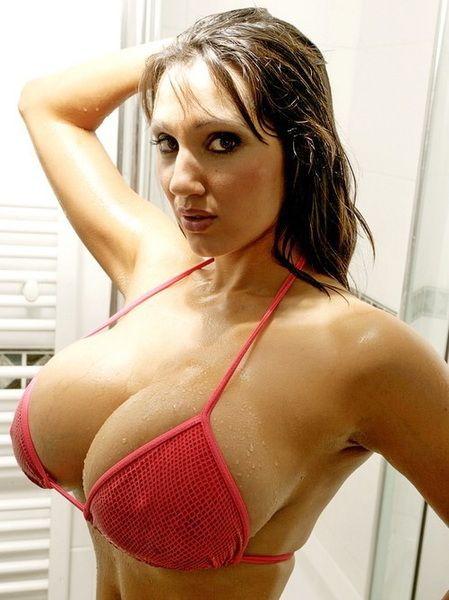 Brunettes naked in the shower