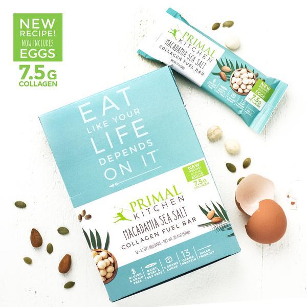 Macadamia Sea Salt Collagen Fuel Bars 7 5 G Collagen Primal Kitchen Fuel Bar Seed Bars Collagen