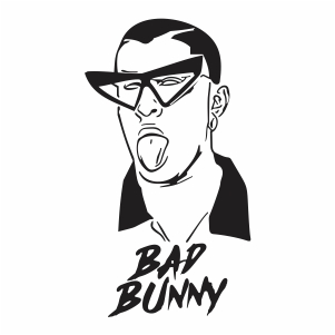 Bad Bunny Svg File Available For Instant Download Online In The Form Of Jpg Png Svg Cdr Ai Pdf Eps Dxf Printable Cri In 2020 Bunny Art Bunny Drawing Bunny Svg