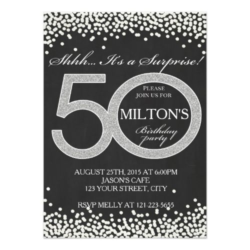 50th Birthday Surprise Party Invitation Card Man Zazzle