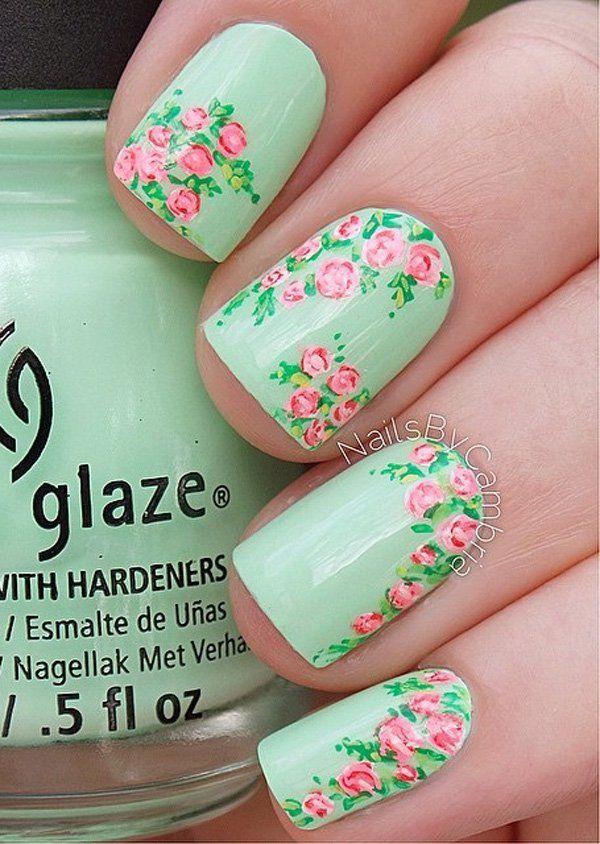 45 Refreshing Green Nail Art Ideas | Arte de uñas, Dias especiales y ...