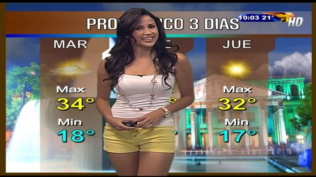 World's Hottest Weather Girl Yanet Garcia Stuns In Skintight White Gown That Highlights Her Pert Derriere