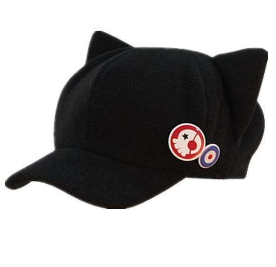 Hot sale EVA caps asuka hat Q version of winter hats cartoon cat new  theatre fashion hat with 2 badges 0bf4e5ffcd69