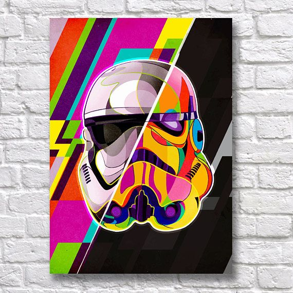 Star Wars Pop Art Movie Greats SINGLE CANVAS WALL ART Picture Print