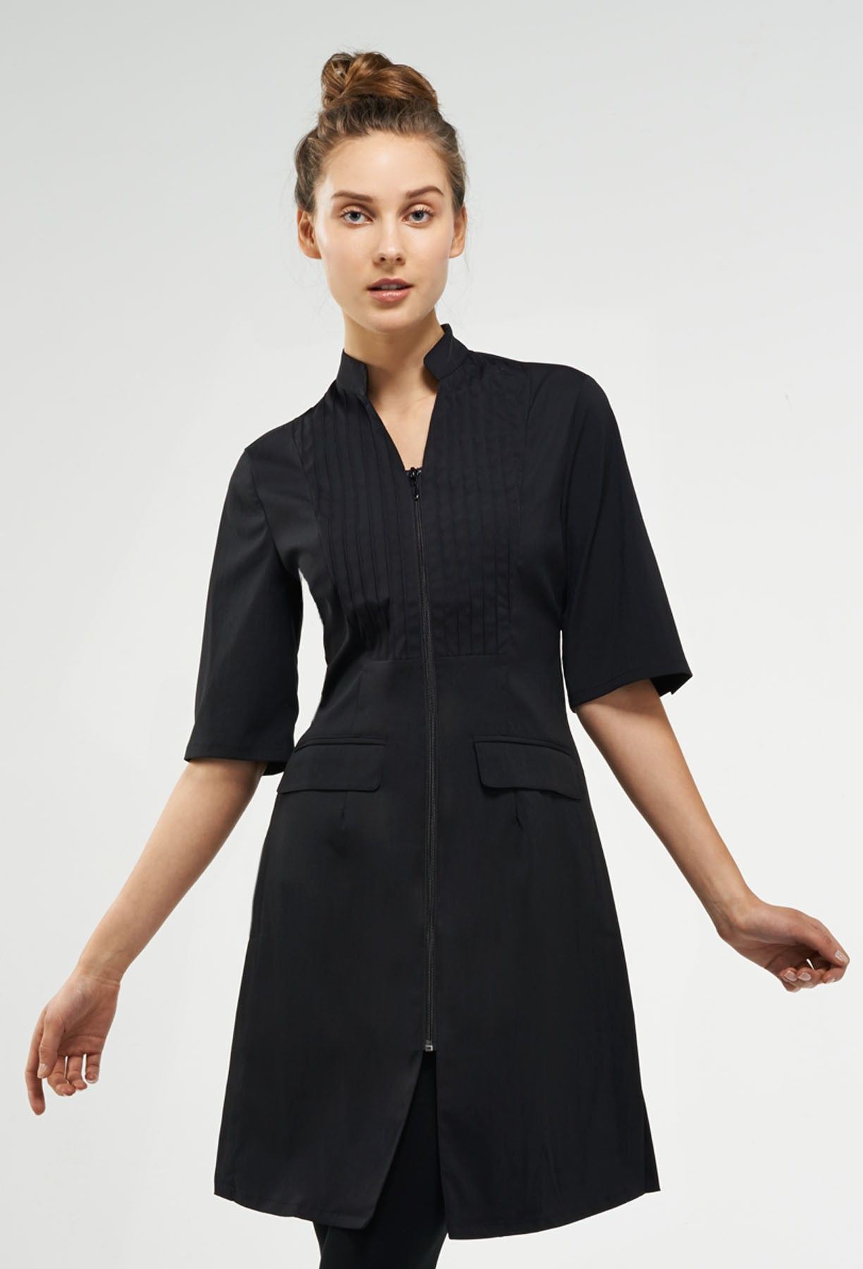 Moderna work outfit spa uniform beauty uniforms fashion for Spa worker uniform