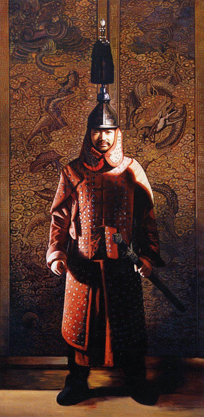 Qing Manchu palace guard   Opium War Art   Pinterest ...