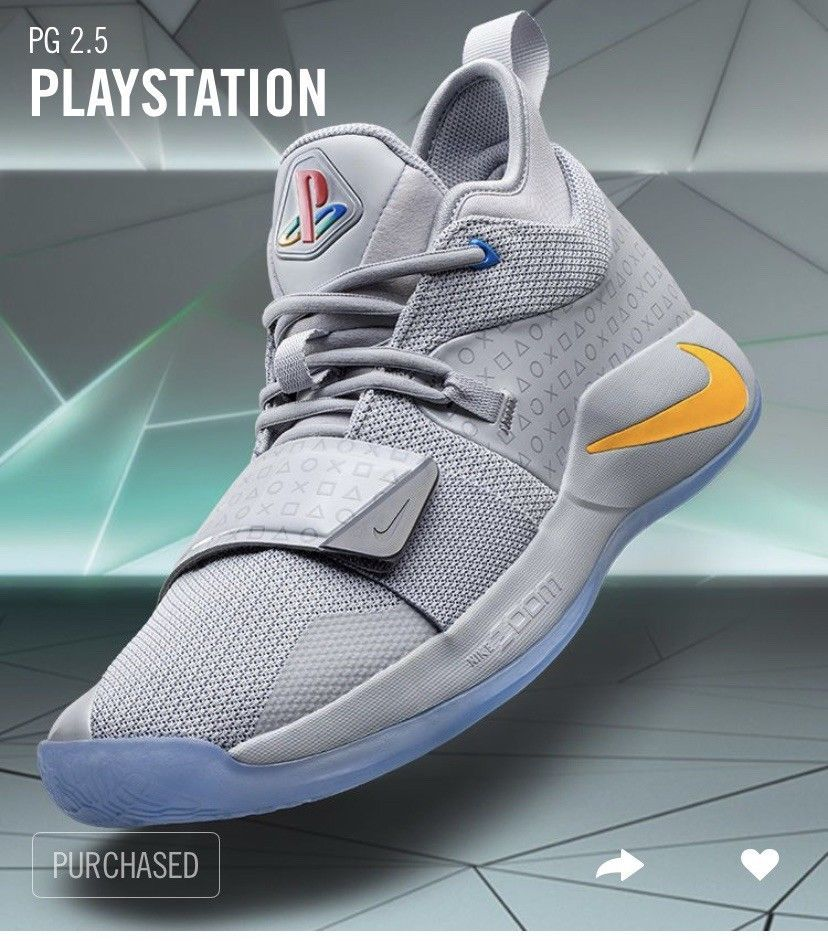 6a4fc8451bca Nike PG 2.5 Playstation Size 8.5 Paul George Limited Edition Grey   Confirmed