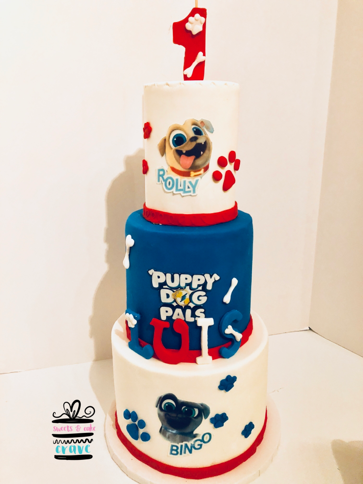 Puppy Dog Pals Cake Dog Themed Birthday Party Birthday Party Treats Puppy Birthday