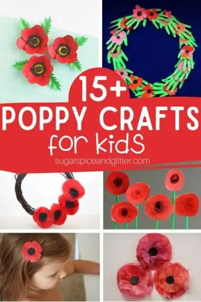 15+ Easy Poppy Crafts for Kids
