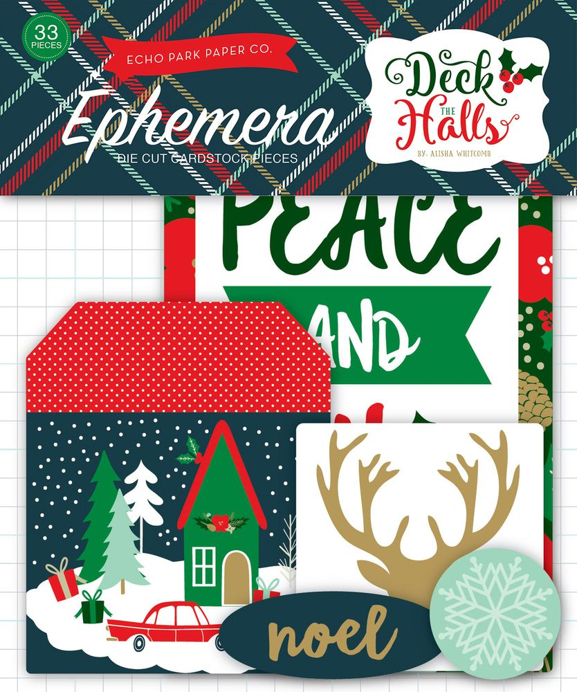 Deck the Halls Ephemera (EP) Ninabrook Paper Crafting