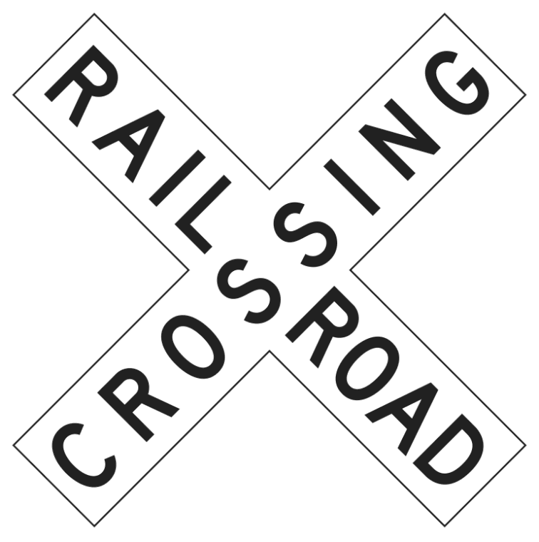 Railroad Crossing Sign Wpclipart Train Clipart Thomas The Trains Birthday Party